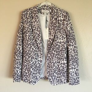 Rachel Zoe Animal print blazer size Medium